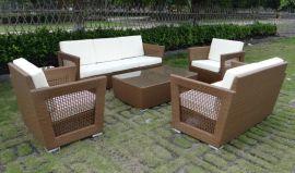 定制仿藤沙發, 編藤家具 ,花園家具(AC-RF0615)