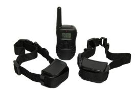 一拖二遥控充电电击震动止吠器