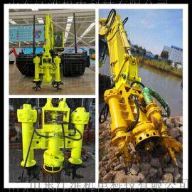 液压JHW马达潜水砂浆泵钛合金耐磨泥浆泵