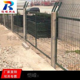 广州厂家直销高速公路铁路防护栅栏 高速路防护铁栏网