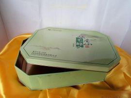 六边形铁盒|六角茶叶铁盒|保健品礼盒包装|绿茶毛峰铁盒厂家