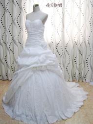 苏州 依爱新娘婚纱2014新款婚纱抹胸拖尾蓬蓬裙唯美修身婚纱礼服