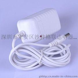 白色外壳厂家 9V2A电源适配器 9v小电视移动便携式DVD/EVD充电器电源9V2A接口4.0