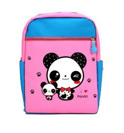 厂家直销 韩版 卡通 书包 儿童 可爱熊猫双肩书包  背包 小汽车