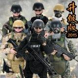 玩模乐兵人手办模型1:6套装特种部队swat sdu警察高30CM男礼物儿童玩具批发