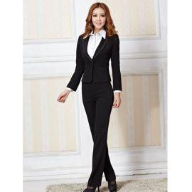 上海厂家定做职业装女套装商务西服修身酒店工作服西装
