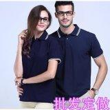 夏季情侶裝有領t恤工作服定製印Logo短袖polo衫運動純色男女班服
