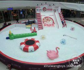 仿真雪百萬球池滑梯 冰雪主題歡樂海洋球世界 商場中庭遊樂設備