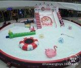 模擬雪百萬球池滑梯 冰雪主題歡樂海洋球世界 商場中庭遊樂設備