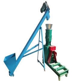 石灰粉螺旋提升机 耐碱肥料提升机qc