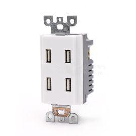 宝智霖直销美标4USB插座 美式美规酒店墙壁插座 四位四口USB插座