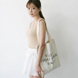 廠家訂做各種禮品廣告袋休閒小清新手提單肩帆布包可印二維碼