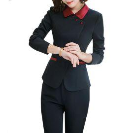 职业装女式套装新款美容师工作服酒店餐厅服务员