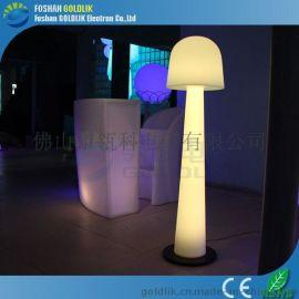 LED發光音樂傢俱蘑菇落地燈休閒娛樂場所落地燈七彩遙控