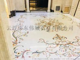 酒店、别墅走廊地面石材拼花出口中东  地面拼花