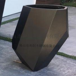 供应园林绿化组合花盆花箱不锈钢中式花盆