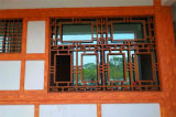 中式铝窗花简洁朴素 与时代连接仿古门窗