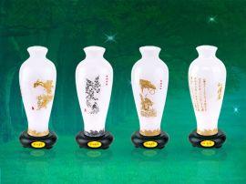简装玉梅瓶系列 琉璃工艺品摆件 创意商务会议礼品家居装饰品