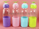 創意小草玻璃杯可愛萌芽水杯隨手杯便攜杯學生杯小草杯廠家