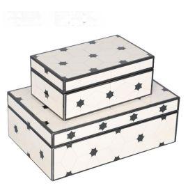 星型纹路钢琴烤漆亚克力首饰盒简约收纳盒软装饰品样板间饰品摆件