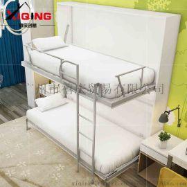 创意隐形床上下床双层成人床 小户型壁柜床双人架子床子母床