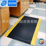 防静电塑胶海绵地垫 工厂流水线车间专用抗疲劳塑胶垫