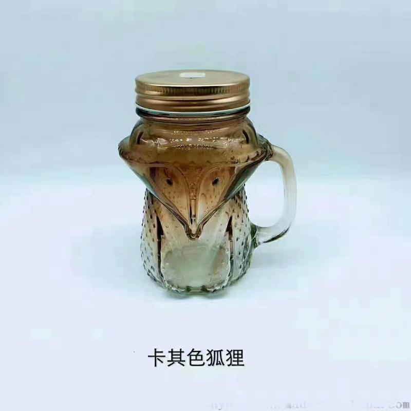 喷涂玻璃杯,吸管玻璃杯,狐狸杯,足球杯
