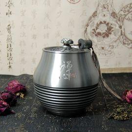 纯锡坊纯锡茶叶罐马来西亚普洱茶罐定制礼品厂家直销