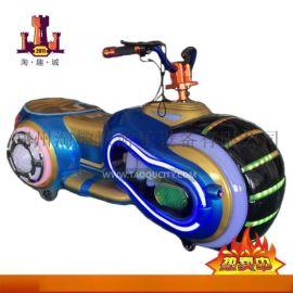 儿童电瓶碰碰车广场游乐设备电动玩具双人室内摩托车