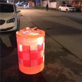 LED太陽能防撞桶,自動發光塑料防撞桶