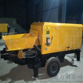 大型工地建筑柴油动力混凝土泵卧式细石砂浆输送泵