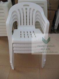 白色户外休闲餐厅烧烤宵夜大排档**塑料扶手椅餐椅胶凳B0027