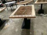 餐饮店餐桌椅子板式餐桌定做实木餐桌家具工厂酒店桌子