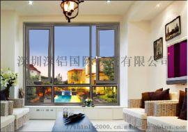 深鋁門窗128-2.0系列窗紗一體管式平開窗