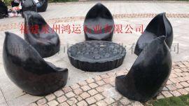 石材黑金沙水景,中国黑石材水景