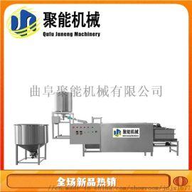 干豆腐机全自动生产线视频 吉林四平豆腐皮机操作简单