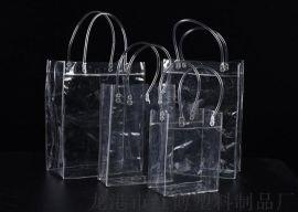 定制透明立体PVC塑料手提袋 化妆品日用品包装袋