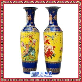 家庭客厅落地陶瓷大花瓶定制 ,手绘礼品陶瓷大花瓶