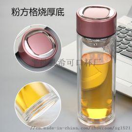 双层玻璃杯定制广告杯办公茶杯