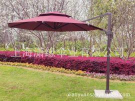 罗马伞别墅餐厅庭院遮阳伞 可旋转上下左右转动倾斜调节