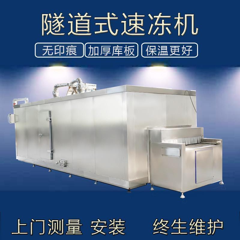 大型单冻机 海鲜鱿鲍黄带鱼单冻速冻机 不锈钢网带单冻机