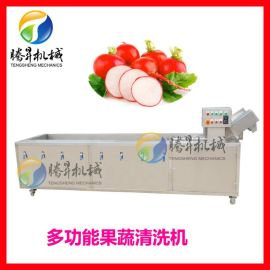高压喷淋气泡清洗机 果蔬清洗流水线设备