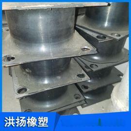 加钢板橡胶减震座 高耐磨加钢板橡胶减震器
