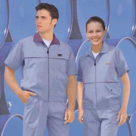 廠家供應 保潔服(短袖裝)加工 定制