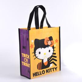 卡通覆膜無紡布袋定做logo購物袋禮品袋展會袋