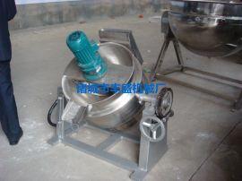 厂家直销 夹层锅不锈钢夹层锅燃气夹层锅可倾式电加热夹层锅