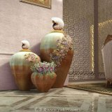【加彩瓷大花瓶】仿明代青花加彩瓷创意花瓶艺术品