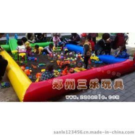 湖南兒童充氣沙灘池,彩色玩沙氣墊牀價格
