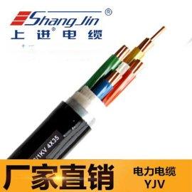上海永进电缆YJV22-4x35交联聚乙烯绝缘电力电缆铠装阻燃耐火电缆上海送货