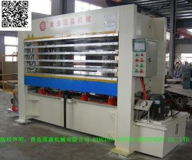 青岛产国森牌120T铝蜂窝芯复合板多层热压机